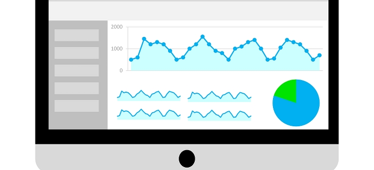 A chart on laptop screen