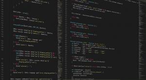 Programming HTML code.