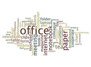 Cloud of words regarding internet terms.