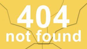 Error 404, page not found.