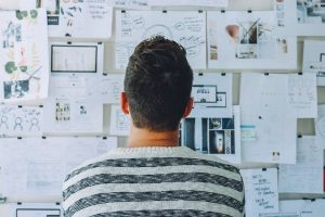 a man thinking about the ways to utilize SEO for startups