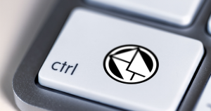ctrl keyboard button with the symbol of tactical local email marketing