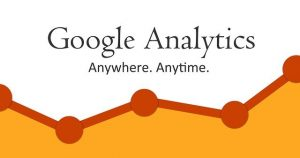 Sign saying: Google Analytics. Anywhere. Anytime.