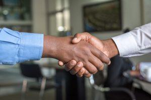 partners shake hands