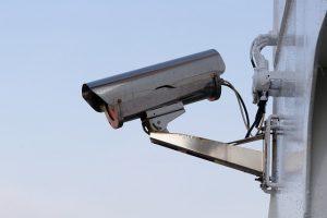 A camera monitoring the area.