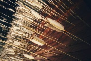 Arrows in a wall.