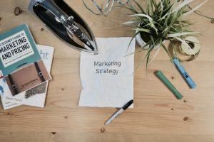 marketing strategy written on a paper