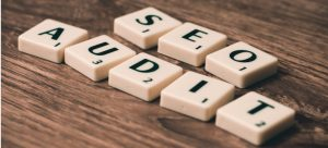 SEO Audit made from scrabble letters