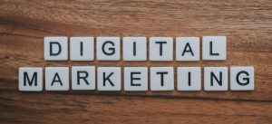 Digital marketing with scrabble letter