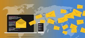 A monitor with email envelopes coming out of it for communication with the Top 7 Types of Sales Leads