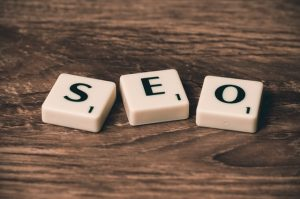 SEO from scrabble letters