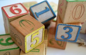 blocks with numbers as symbolic showing your quality score