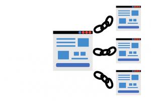 Internal linking structure of a website.